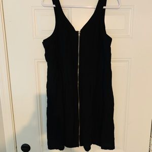 Forever 21 black zip front dress size 2x